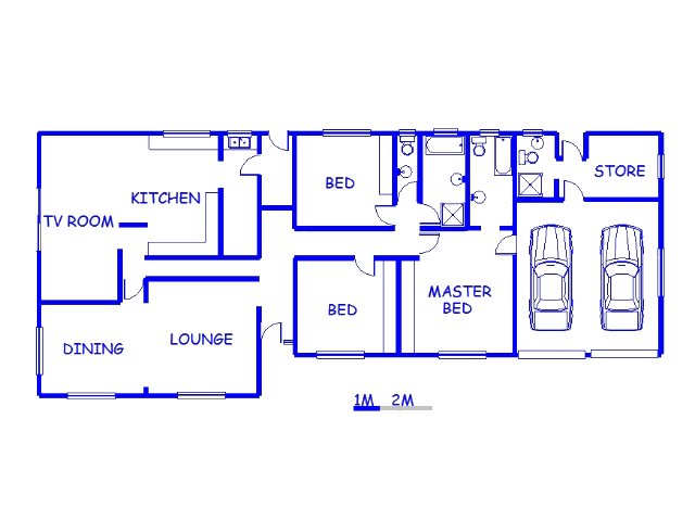 Floor plan of the property in Albertinia