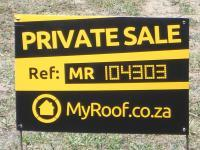 Sales Board of property in Mossel Bay