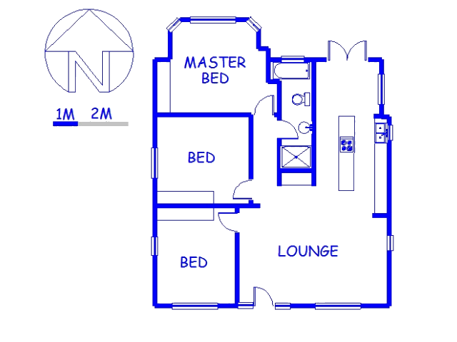 Floor plan of the property in George Central
