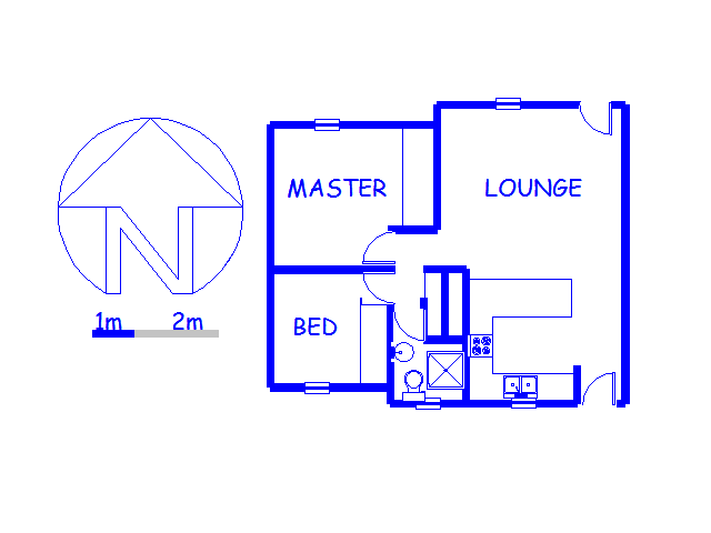 Floor plan of the property in Magaliessig