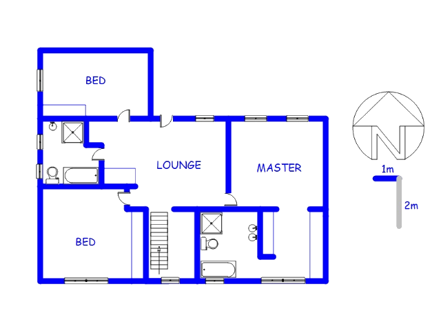 Floor plan of the property in Atteridgeville