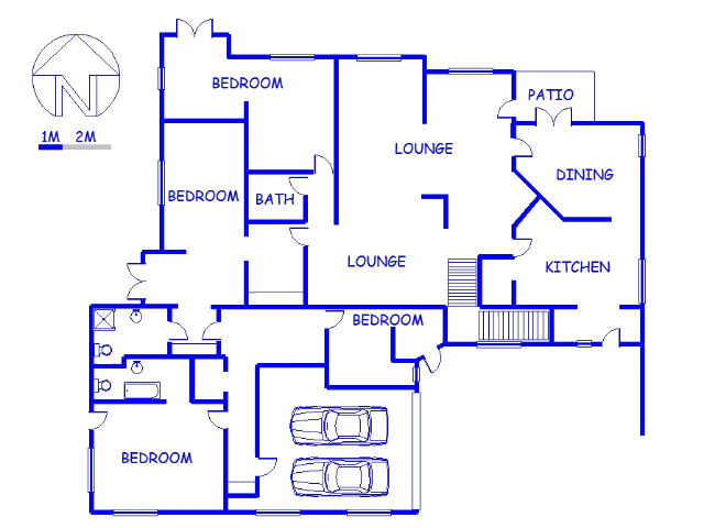Floor plan of the property in Heatherlands