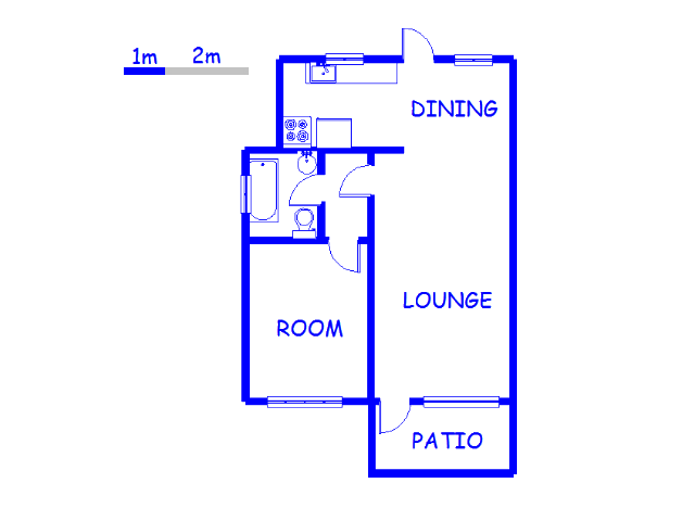 Floor plan of the property in Illovo Beach