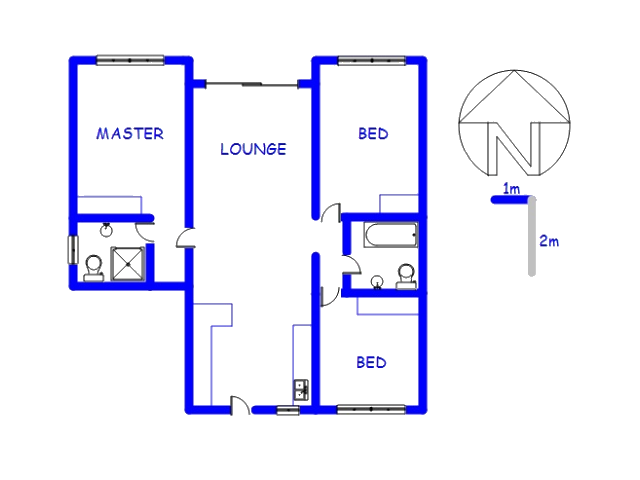 Floor plan of the property in Zwartkop