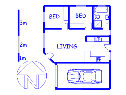 Floor plan of the property in Eerste Rivier