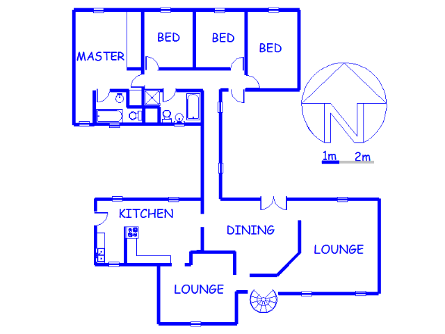 Floor plan of the property in Quellerina