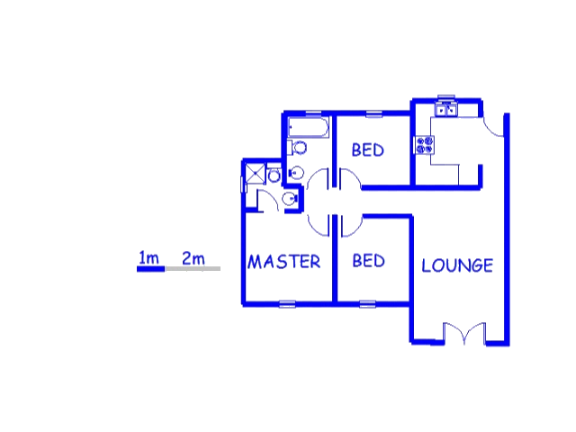 Floor plan of the property in Castleview