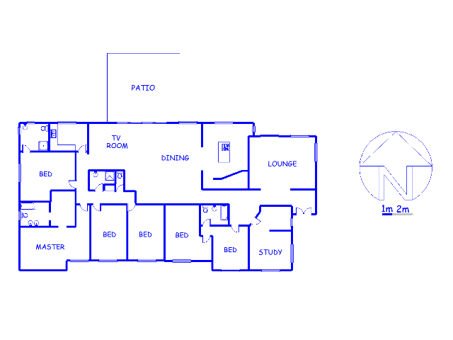Floor plan of the property in Pienaarspoort