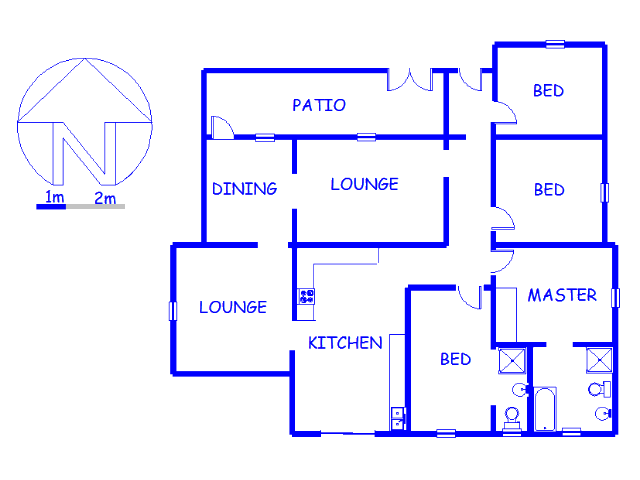 Floor plan of the property in Brakpan