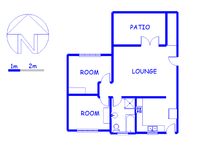 Floor plan of the property in Mtunizini
