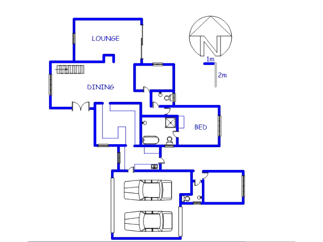 Floor plan of the property in Midlands Estate