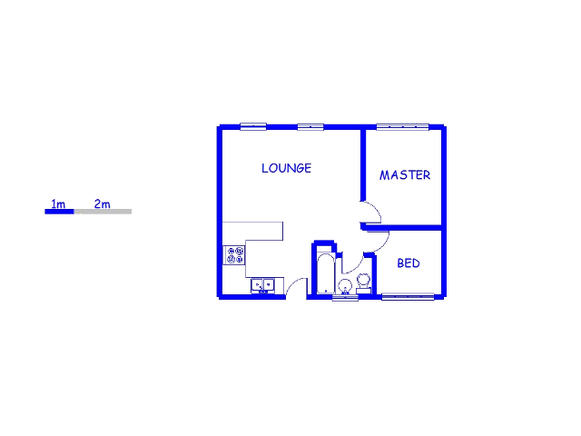 Floor plan of the property in Greenhills