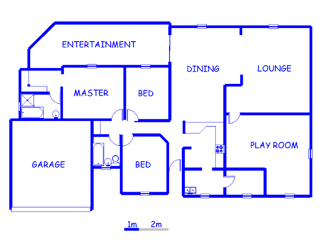 Floor plan of the property in Boksburg