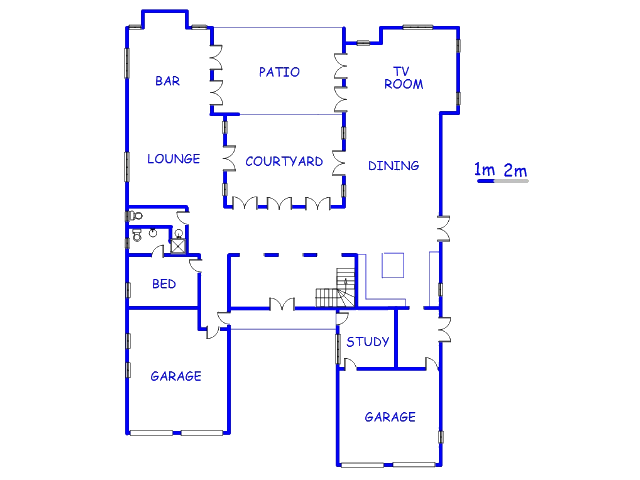 Floor plan of the property in Dainfern