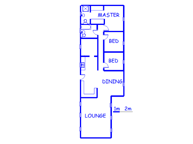 Floor plan of the property in Witkopdorp (Daleside)