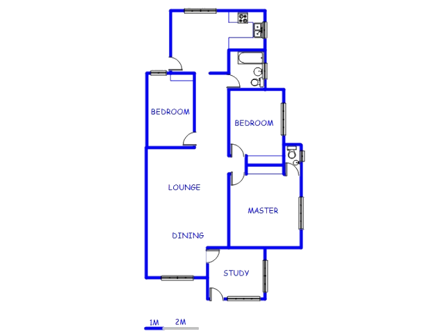 Floor plan of the property in West Village