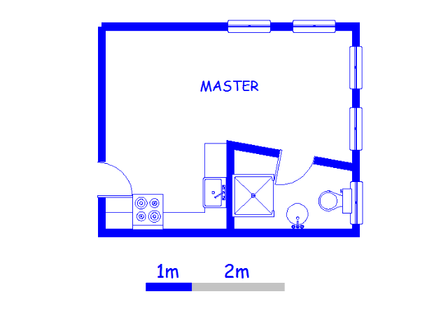 Floor plan of the property in Braamfontein