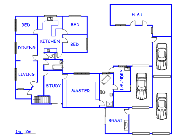 Floor plan of the property in Athlone - CPT
