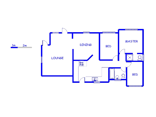 Floor plan of the property in Protea North