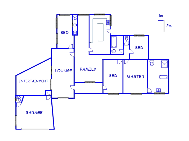 Floor plan of the property in Kensington B - JHB