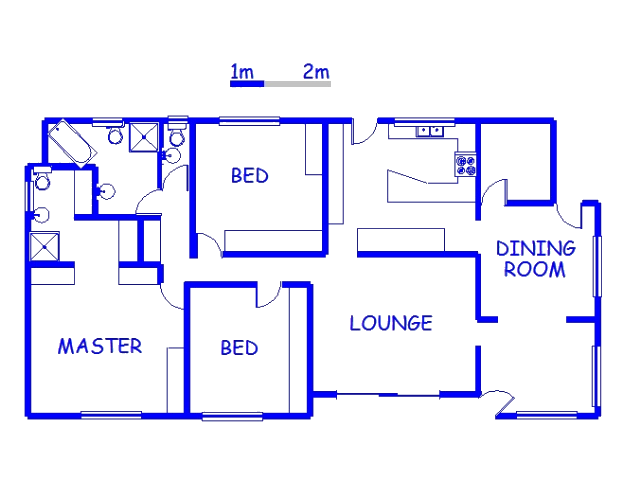 Floor plan of the property in Umhlatuzana