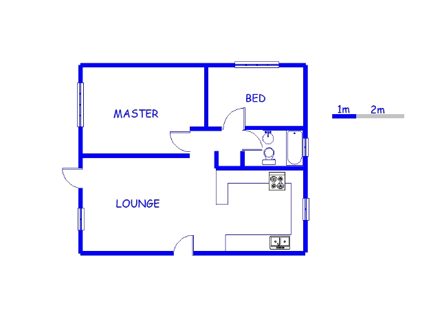Floor plan of the property in Princess A.H.