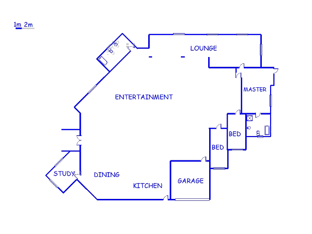 Floor plan of the property in Northcliff