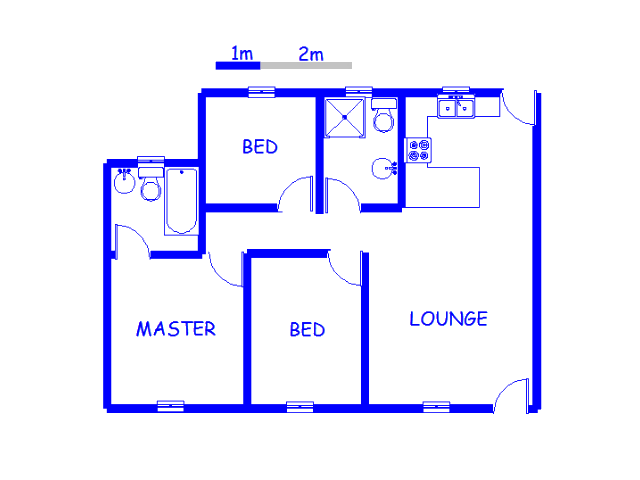 Floor plan of the property in Rewlatch