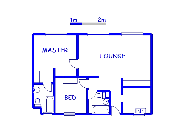 Floor plan of the property in Doonside
