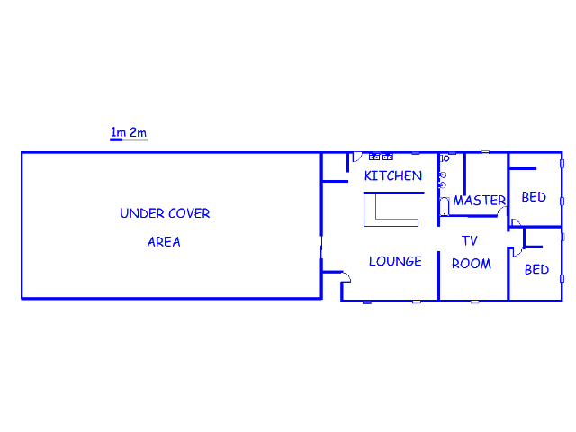 Floor plan of the property in Delmas