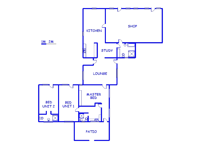Floor plan of the property in Heidelberg (WC)