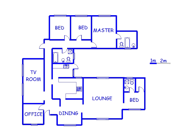 Floor plan of the property in Henley-on-Klip