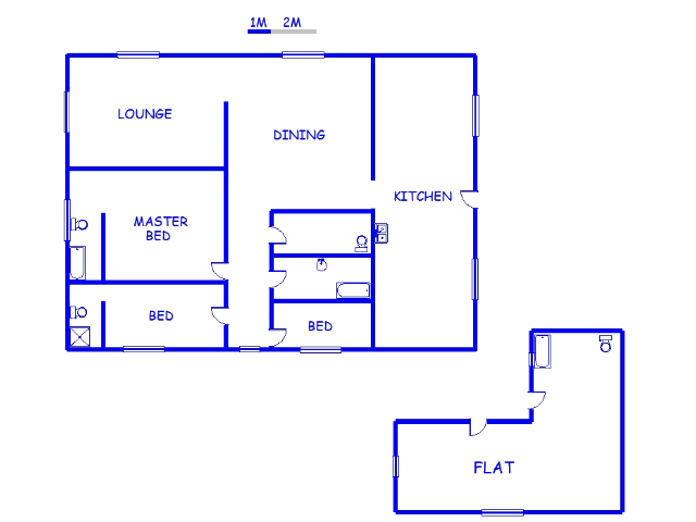 Floor plan of the property in Modjadjikloof (Duiwelskloof)