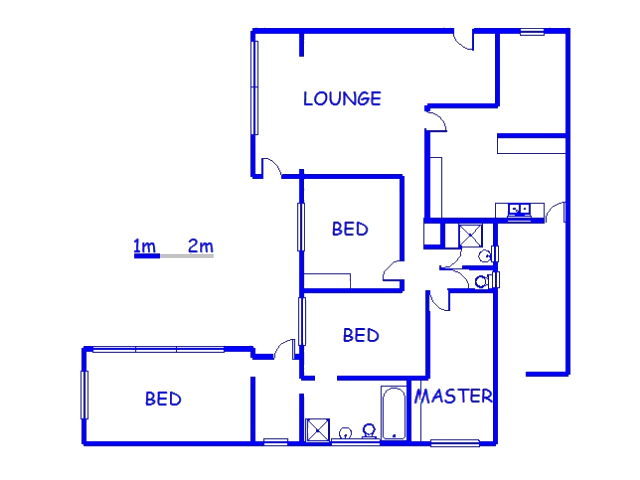 Floor plan of the property in Scottburgh