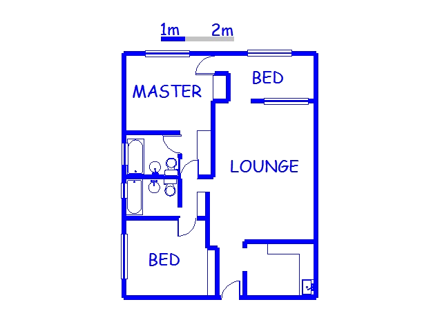 Floor plan of the property in North Beach