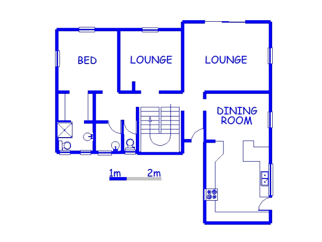 Floor plan of the property in Sunningdale - DBN