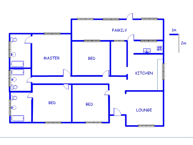 Floor plan of the property in Randfontein