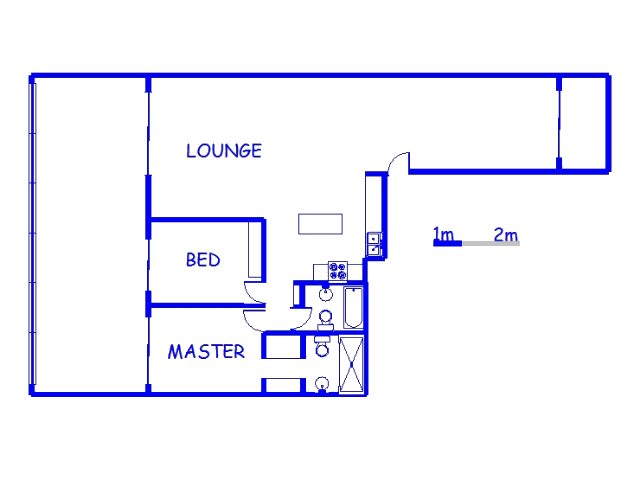 Floor plan of the property in Durban Central