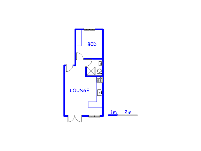 Floor plan of the property in Sand Bay