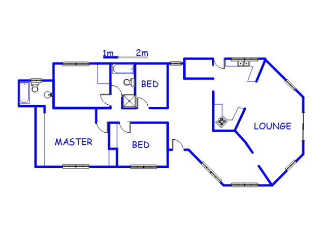 Floor plan of the property in Newcastle