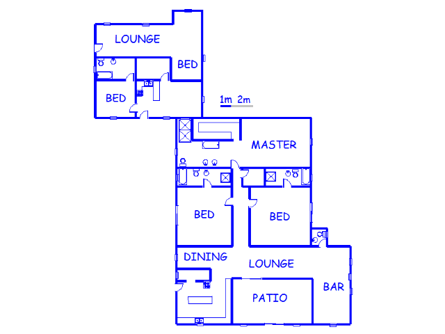 Floor plan of the property in Walkerville