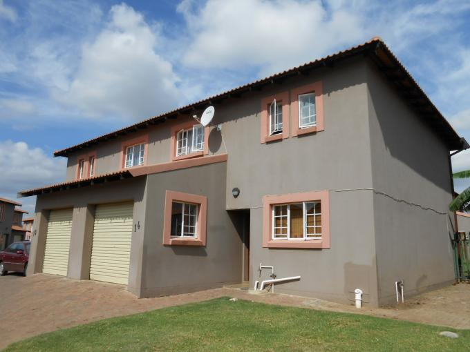 3 Bedroom Duplex For Sale in Rustenburg - Private Sale - MR108684