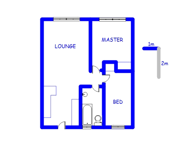 Floor plan of the property in Clarina
