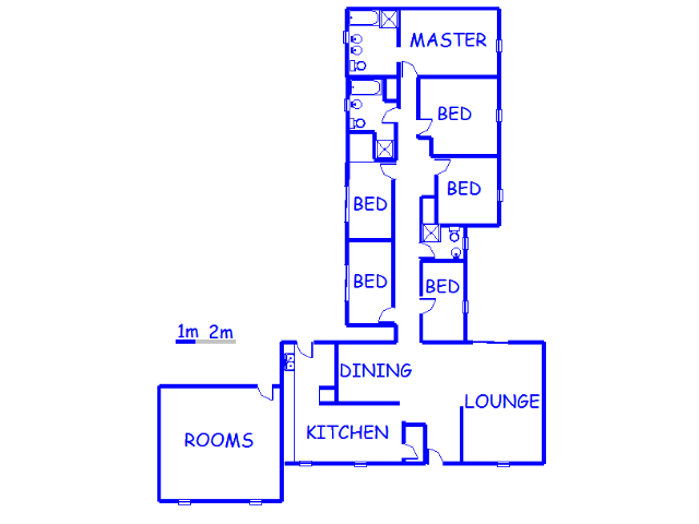 Floor plan of the property in Dowerglen