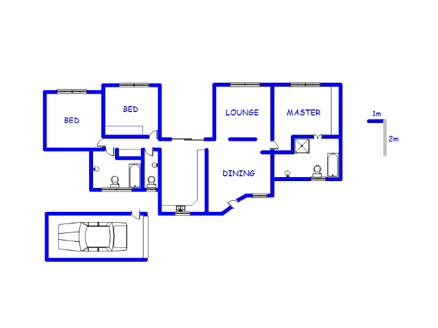 Floor plan of the property in The Orchards