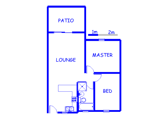 Floor plan of the property in Sonneveld