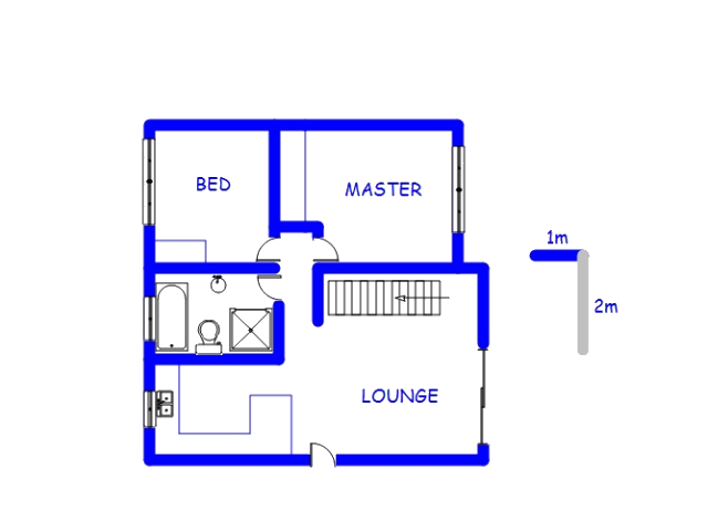 Floor plan of the property in Highveld