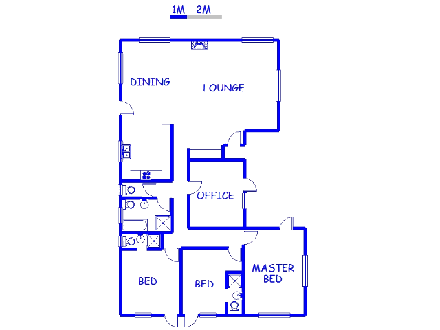 Floor plan of the property in Witsand