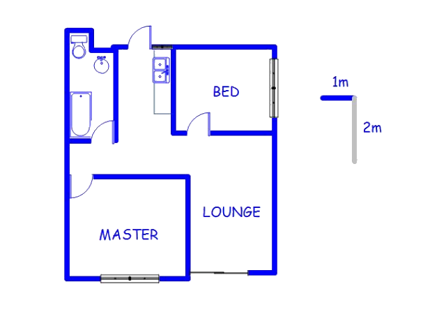 Floor plan of the property in Coronationville