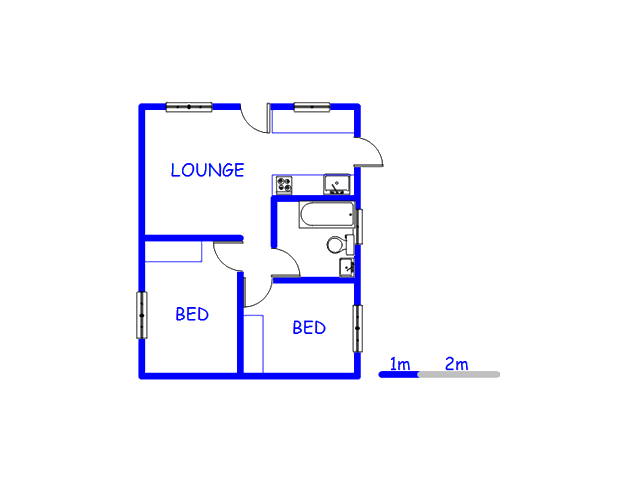 Floor plan of the property in Blue Downs
